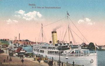 Stettin, Dampfer Odin am Dampfschiffbollwerk