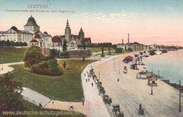 Stettin, Hakenterrasse mit Museum und Regierung