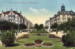 Stettin, Kaiser Wilhelmstraße mit Augustaplatz
