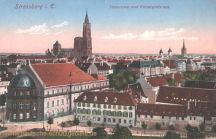 Straßburg i. E., Panorama vom Kaiserplatz aus