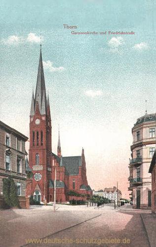 Thorn, Garnisonkirche und Friedrichstraße
