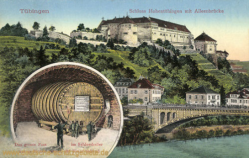 Tübingen, Schloss Hohentübingen - Das große Fass im Schlosskeller
