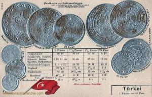 Türkei, Münzen um 1900