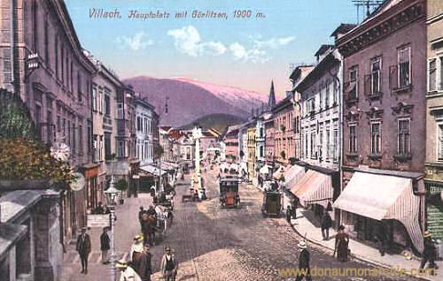 Villach, Hauptplatz mit Görlitzen, 1900 m