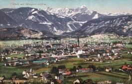 Villach mit Mangart 2678 m