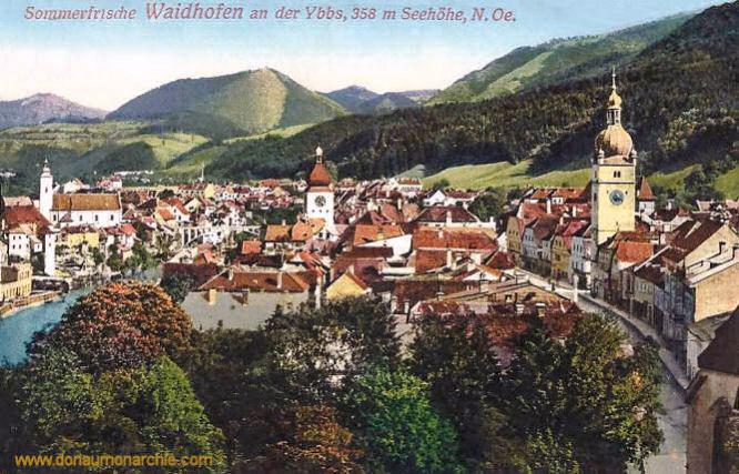 Waidhofen an der Ybbs, 358 m Seehöhe, N.Oe