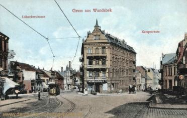 Wandsbek, Lübecker- und Kampstraße