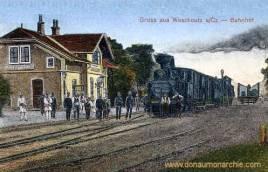 Waschkoutz a/Cz. , Bahnhof