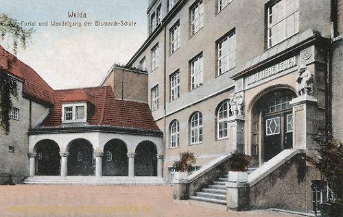 Weida, Portal und Wandelgang der Bismarck-Schule