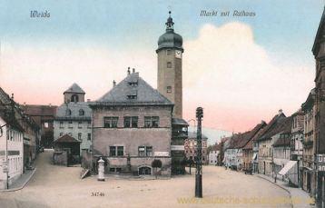 Weida, Markt mit Rathaus