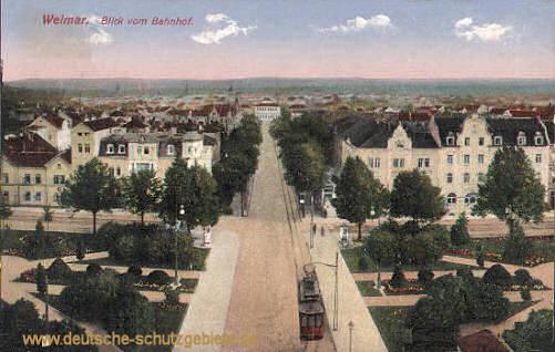 Weimar, Blick vom Bahnhof