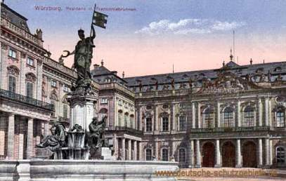 Würzburg, Residenz mit Franconiabrunnen