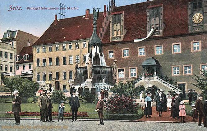 Zeitz, Finkgräfenbrunnen am Markt