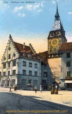 Zug, Rathaus und Zeitturm
