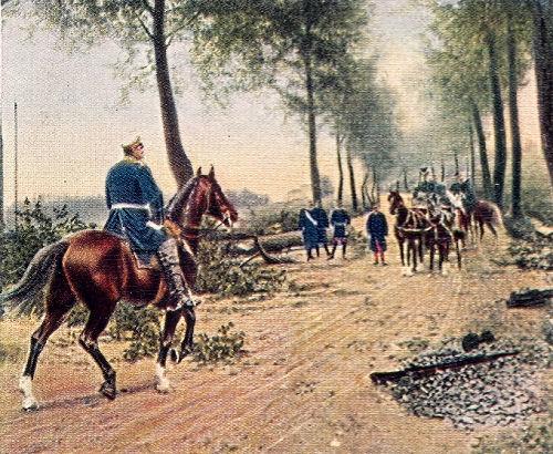 Bismarcks und Napoleons Zusammentreffen auf der Chaussee bei Donchery