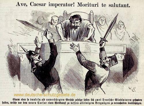 Deutscher Krieg 1866 (ein Preuße, der französische Kaiser Napoleon III., ein Österreicher)
