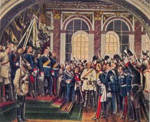 Kaiserproklamation in Versailles 1871. 18. Januar 1871