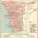 Deutsch-Südwestafrika, Landkarte 1912
