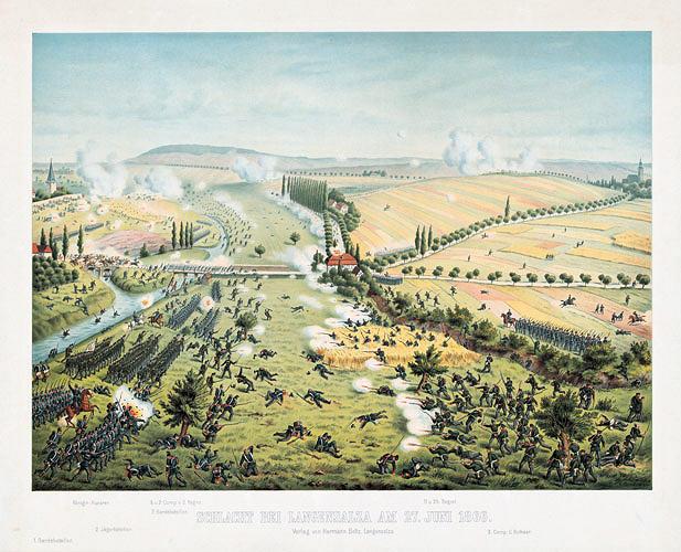 Schlacht bei Langensalza am 27. Juni 1866