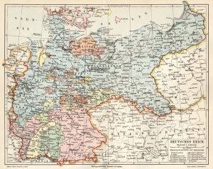 Deutsches Reich 1871-1918 (Kaiserreich), Landkarte