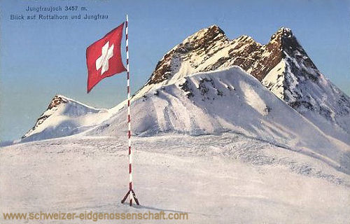 Schweiz, Jungfraujoch 3457 m