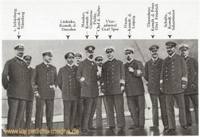 Die Kommandanten des Geschwaders Graf Spee