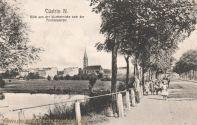 Küstrin N., Blick von der Warthebrücke nach der Friedenskirche