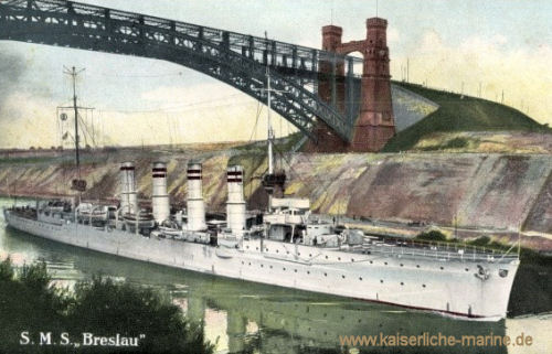 S.M.S. Breslau im Kaiser-Wilhelm-Kanal