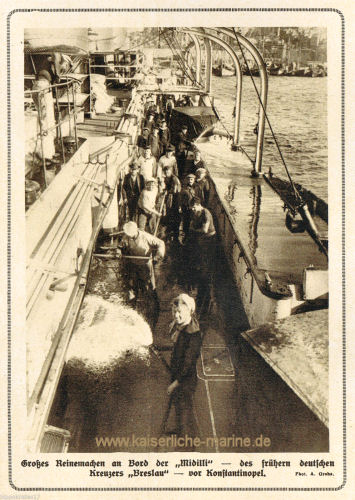S.M.S. Breslau als Midilli, Großes Reinemachen