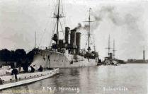 S.M.S. Hamburg in Swinemünde