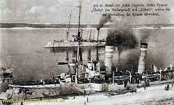 S.M.S. Lübeck und S.M.S. Thetis vor Memel