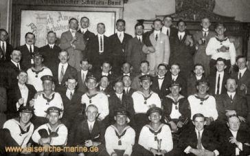 S.M.S. Moltke in Hampton/USA beim Deutsch-Amerikanischen Schützenbund am 3. Juni 1912