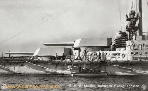 S.M.S. Moltke, schwere Heckenschütze