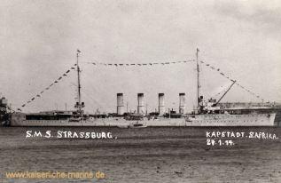 S.M.S. Strassburg, Kapstadt 27.01.1914