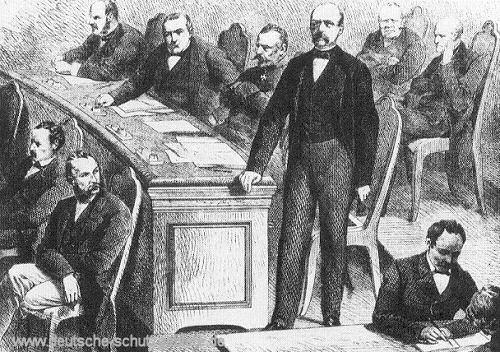 Bismarck im Norddeutschen Reichstag 1867