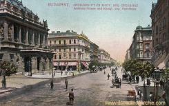 Budapest, Andrassy-Straße und Königlich ungarisches Opernhaus