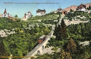 Innsbruck, Drahtseilbahn auf die Hungerburg