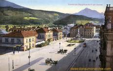 Innsbruck, Hauptbahnhof mit Serles