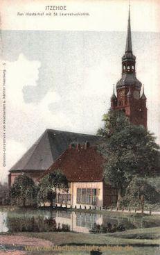 Itzehoe, Am Klosterhof mit St. Laurentiuskirche