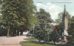 Itzehoe, Partie im Klosterhof mit Denkmal