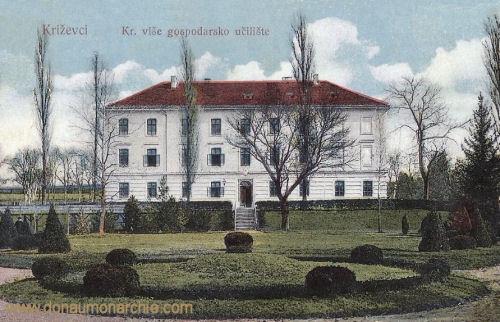 Kreutz (Križevci), Kr višc gospodarsko učilište (Landwirtschaftsschule)