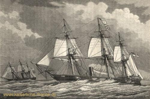 S.M.S. Nymphe und S.M.S. Augusta