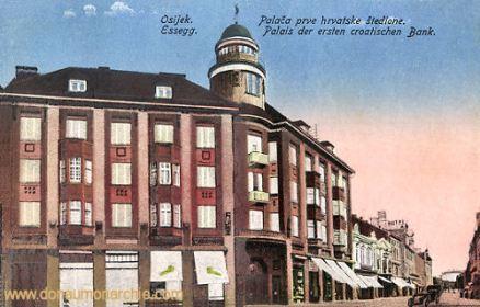 Essegg (Osijek), Palais der ersten croatischen Bank