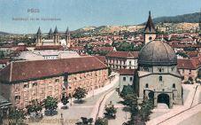 Fünfkirchen (Pécs), Széchenyi tér és Gymnázium (Széchenyi-Platz und Schule)