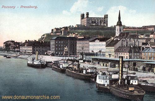 Pressburg (Pozsony, Bratislava), Anlegestelle
