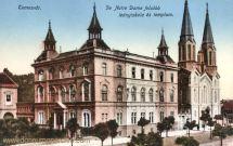 Temesvár, De Notre Dame felsöbb leányiskola és templom (Mädchenschule und Kirche)