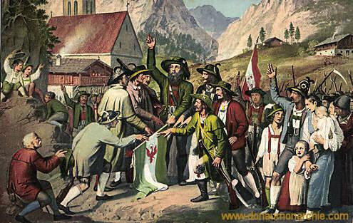 Tiroler Freiheitskampf, Der Schwur des Andreas Hofer 1809