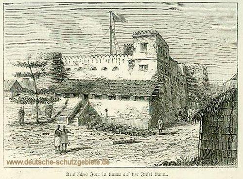 Witu-Land, Arabisches Fort in Lamu auf der Insel Lamu