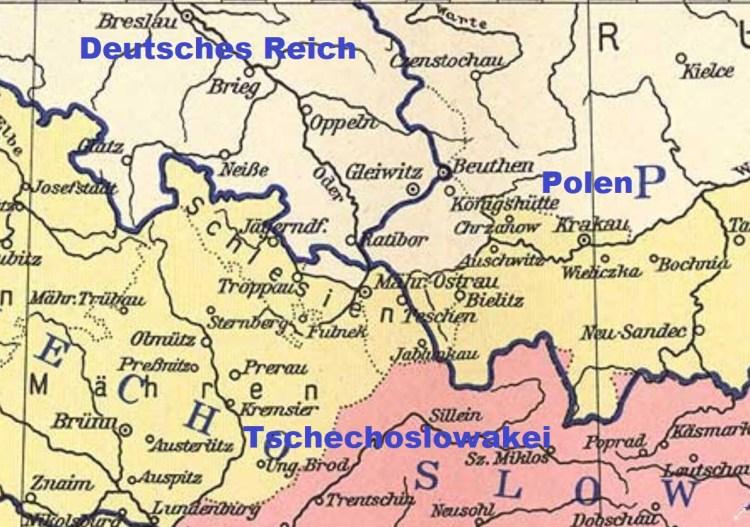 Österreichisch Schlesien nach der Teilung 1920