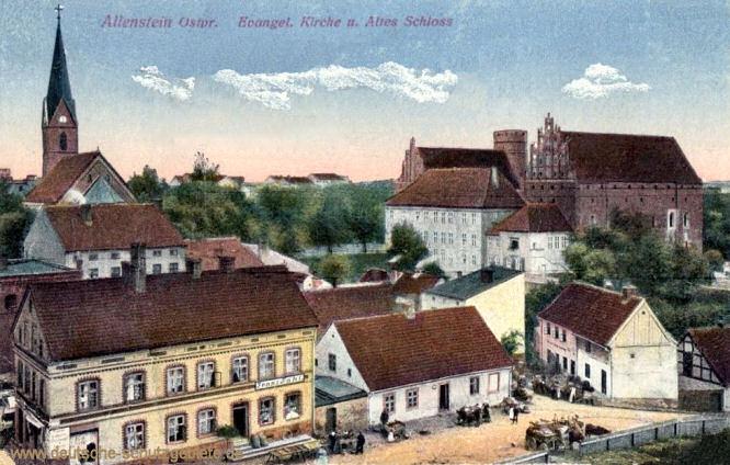 Allenstein O.-Pr., Evangelische Kirche und Altes Schloss